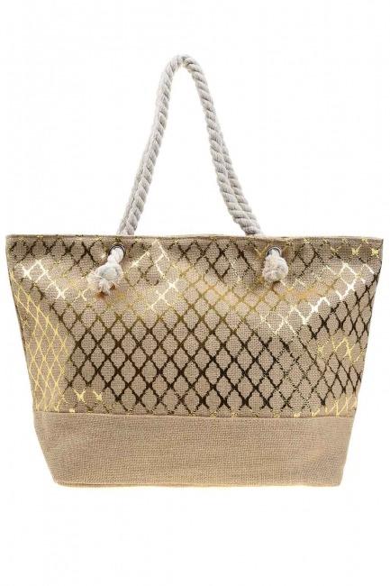 MIZALLE - Large Beach Bag (Gilded) (1)