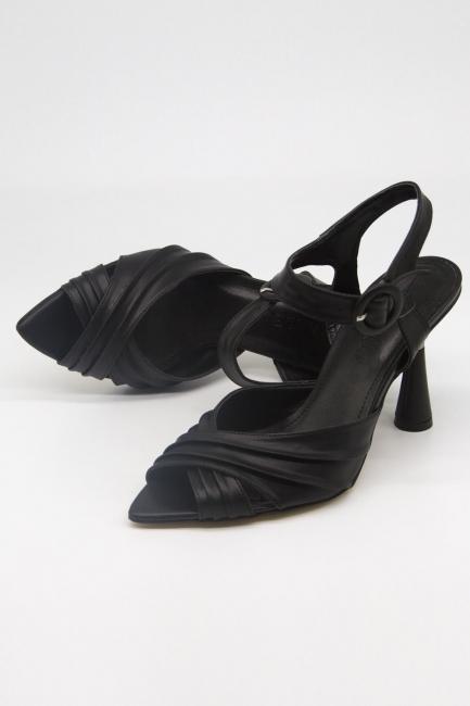 Çapraz Bantlı Topuklu Ayakkabı - Thumbnail