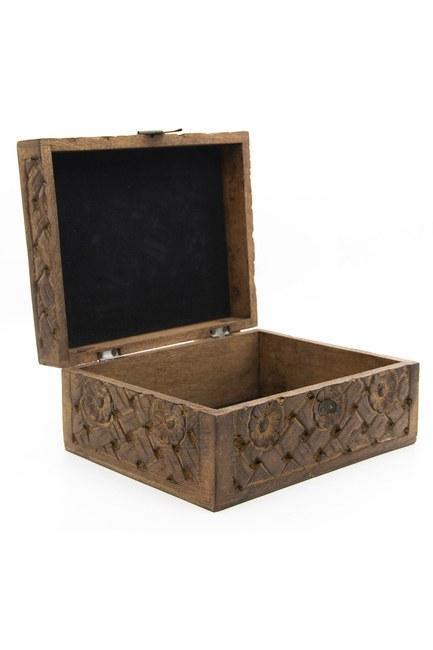 MIZALLE HOME - صندوق مجوهرات منحوت ، كبير (19 × 24) (1)