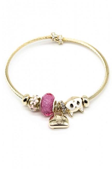 Cat Shaped Bracelet (Pink) - Thumbnail