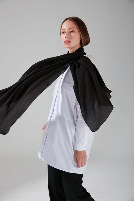 Cazzy Şal (Siyah) - Thumbnail