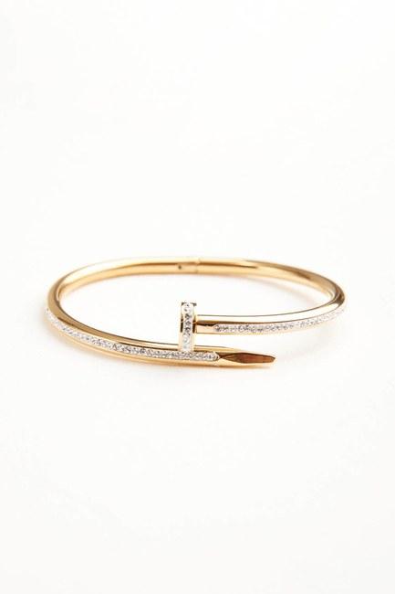 MIZALLE - Steel Bracelet (Gold) (1)