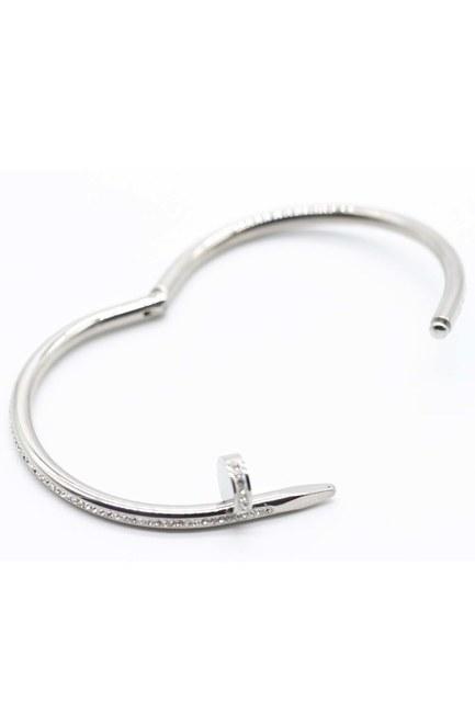 MIZALLE - Steel Bracelet (Silver) (1)