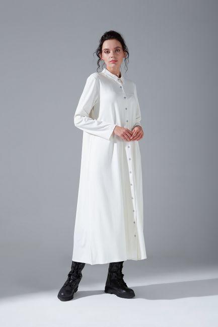 Mizalle - Çelik Örgü Elbise (Ekru)