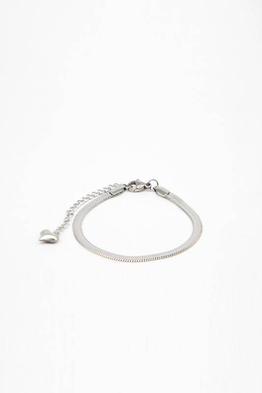 Çelik Zincir Bileklik (Gümüş Rengi)