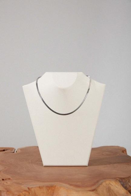 Mizalle - Çelik Zincir Kolye (Gümüş Rengi)