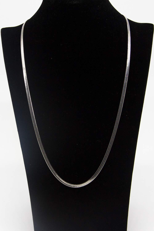 Çelik Zincir Kolye (Gümüş Rengi)