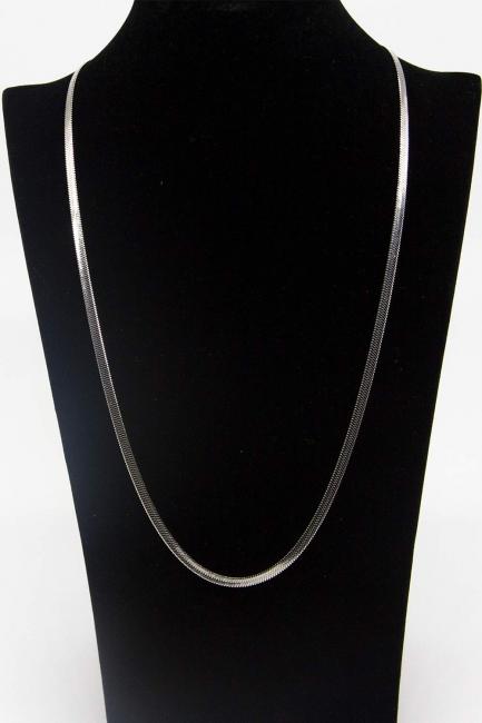 Çelik Zincir Kolye (Gümüş Rengi) - Thumbnail
