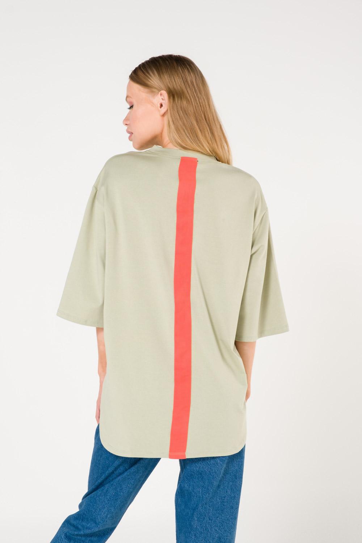 Cep Baskılı Yeşil T-shirt