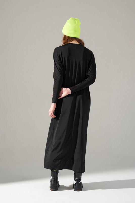 Cep Detaylı Elbise (Siyah)