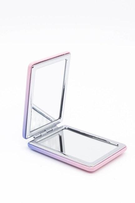 MIZALLE HOME - مرآة ماكياج بحجم الجيب (وردي) (1)
