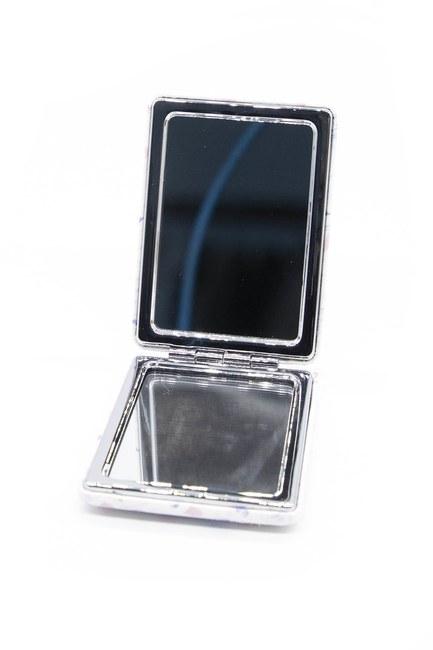 MIZALLE HOME - مرآة ماكياج بحجم الجيب (أسود / أبيض) (1)