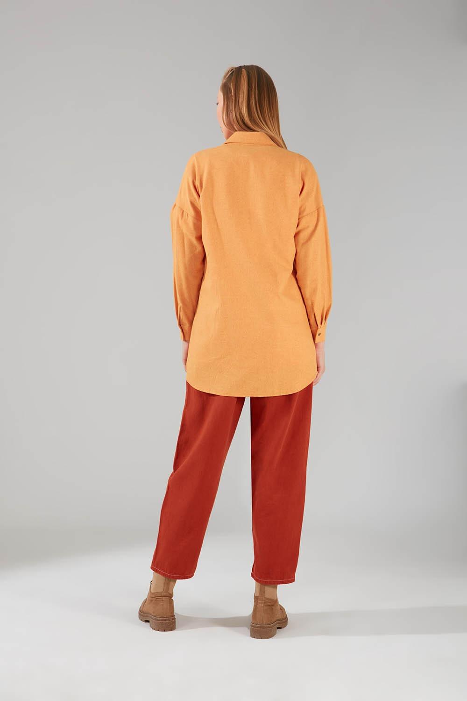 Cepli Safran Tunik Gömlek