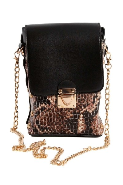 MIZALLE - Chain Detailed Bag (Tan) (1)