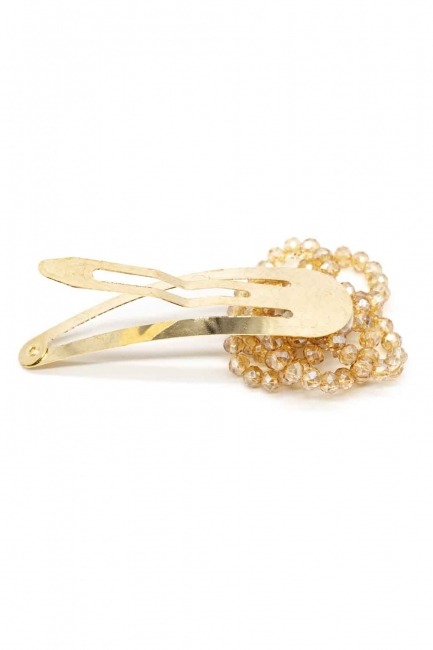 MIZALLE - Flower Detailed Snap Hair Clips (Cream) (1)
