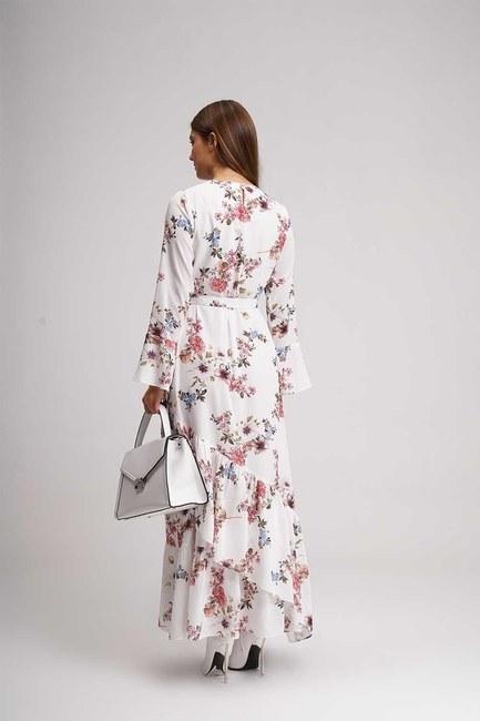 فستان طويل منقوش بالزهور (اكرو) - Thumbnail