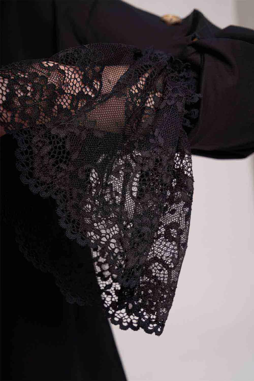 Çiçek Detaylı Kolluk (Siyah)