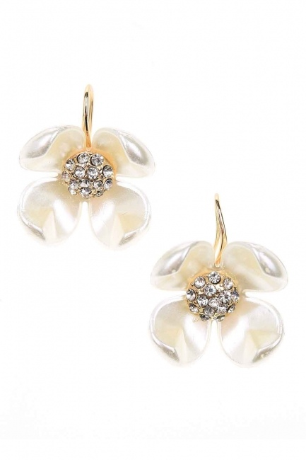 MIZALLE - Flower Detailed Earrings (St) (1)