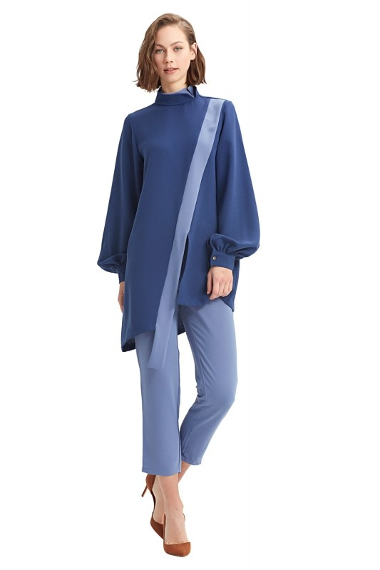 Coupled Collar Tunic (Blue)