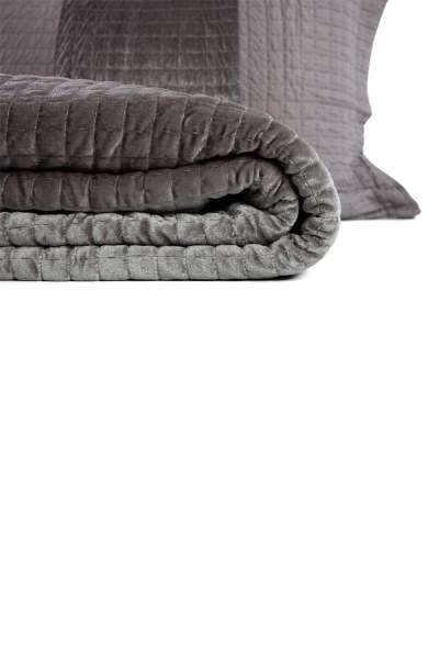 MIZALLE HOME - Anthracite Double Coverlet (260X270) (1)