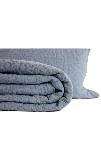 MIZALLE HOME - Dark Blue Double Coverlet (260X270) (1)
