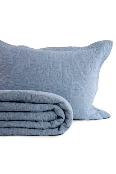 Sis Mavisi Çift Kişilik Yatak Örtüsü (260X270) - Thumbnail