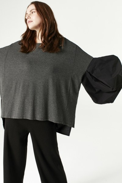 MIZALLE - Çift Renk Triko Pantolon (Siyah) (1)