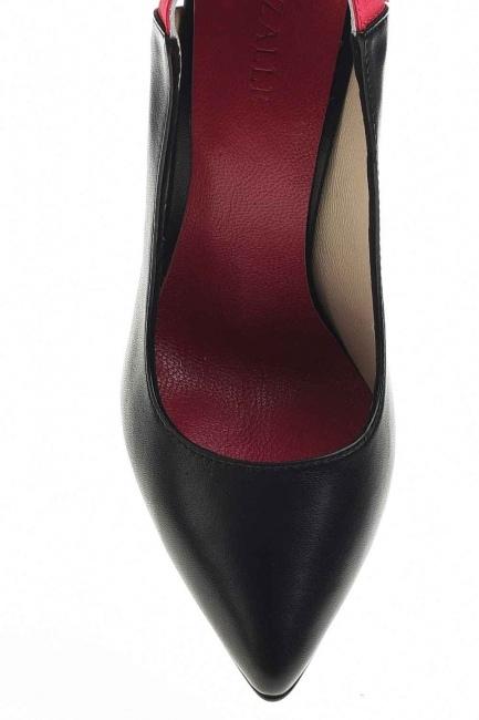 Çift Renkli Topuklu Ayakkabı (Siyah) - Thumbnail