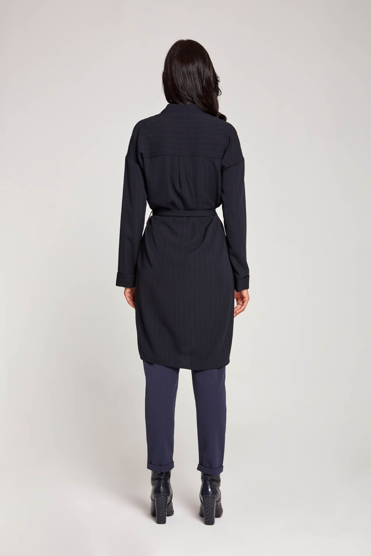Çizgili Elbise Lacivert Tunik