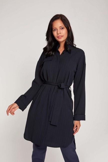 MIZALLE - Çizgili Elbise Tunik (Lacivert) (1)