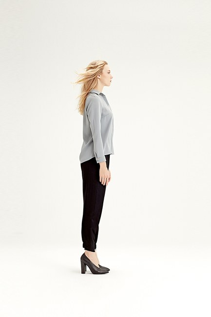 MIZALLE - قميص كلاسيكي (رمادي) (1)