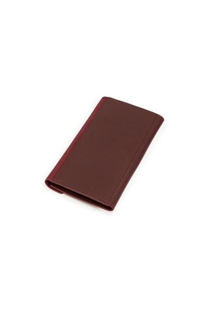 MIZALLE - Classic Wallet (Claret Red) (1)