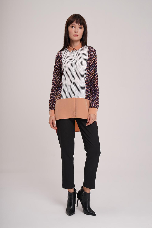 Mizalle - Çok Parçalı Gömlek Bluz (Beyaz)