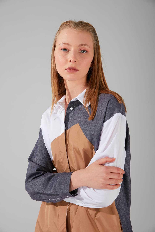 Çok Parçalı Füme Tunik Gömlek