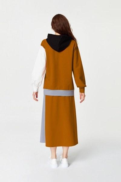 Çok Parçalı Sweatshirt (Gri) - Thumbnail