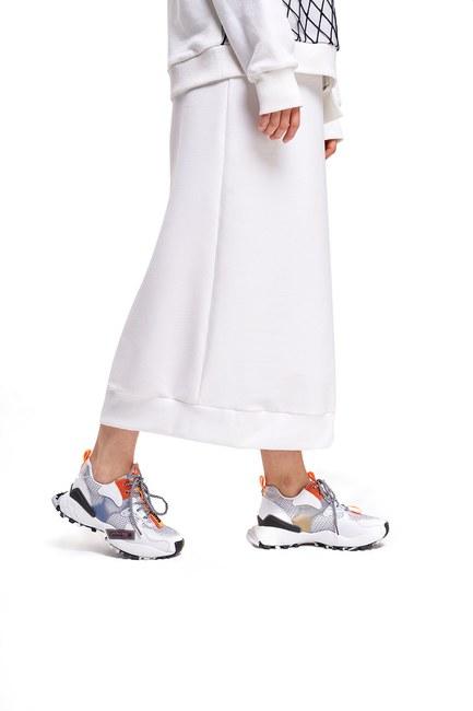 Mizalle - Çok Renkli Spor Ayakkabı (Beyaz)