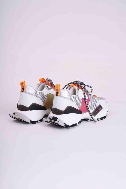 Çok Renkli Spor Ayakkabı (Beyaz) - Thumbnail