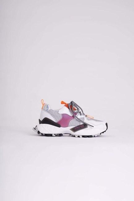 MIZALLE - Çok Renkli Spor Ayakkabı (Beyaz) (1)