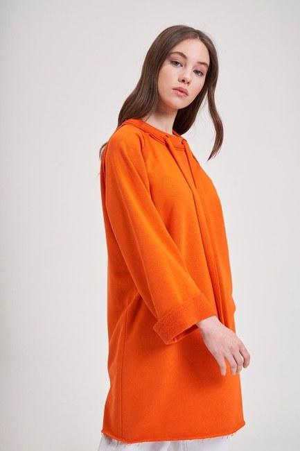 MIZALLE YOUTH - Collar Lace Sweatshirt (Orange) (1)