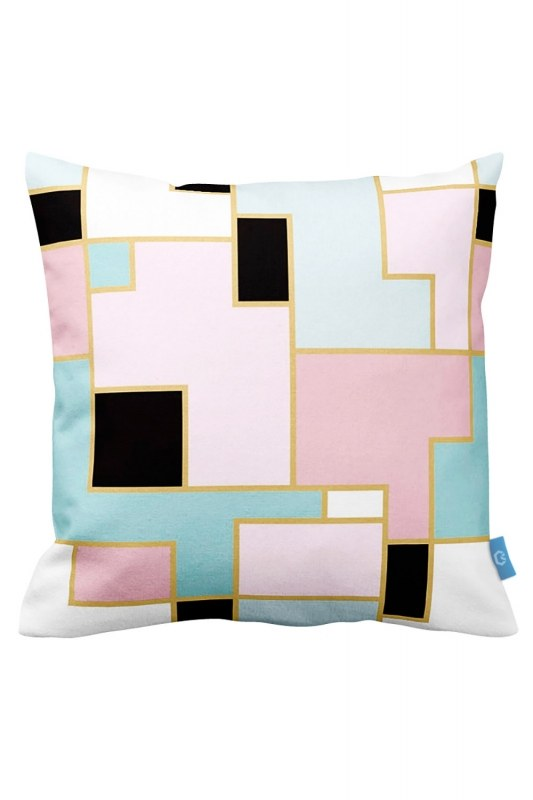 Colorful Shaped Decorative Pillow Case (43X43)