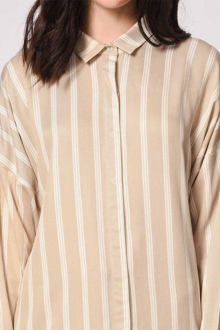 Comfy Shirt (Ecru-Beige) - Thumbnail
