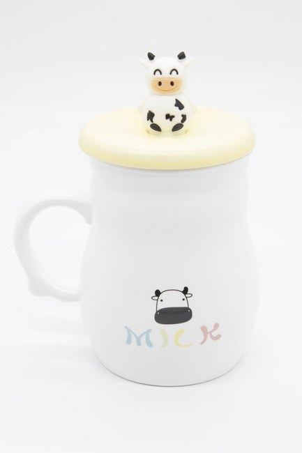 MIZALLE HOME - Cow Figured Porcelain Mug (Yellow) (1)