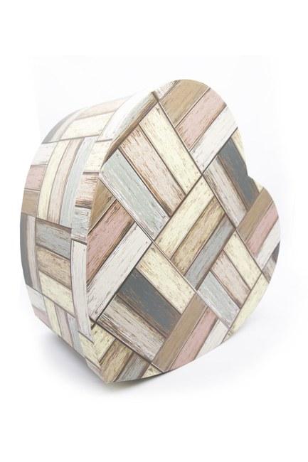Mizalle Home - صندوق علي شكل قلب كريمي (28 × 26) (1)