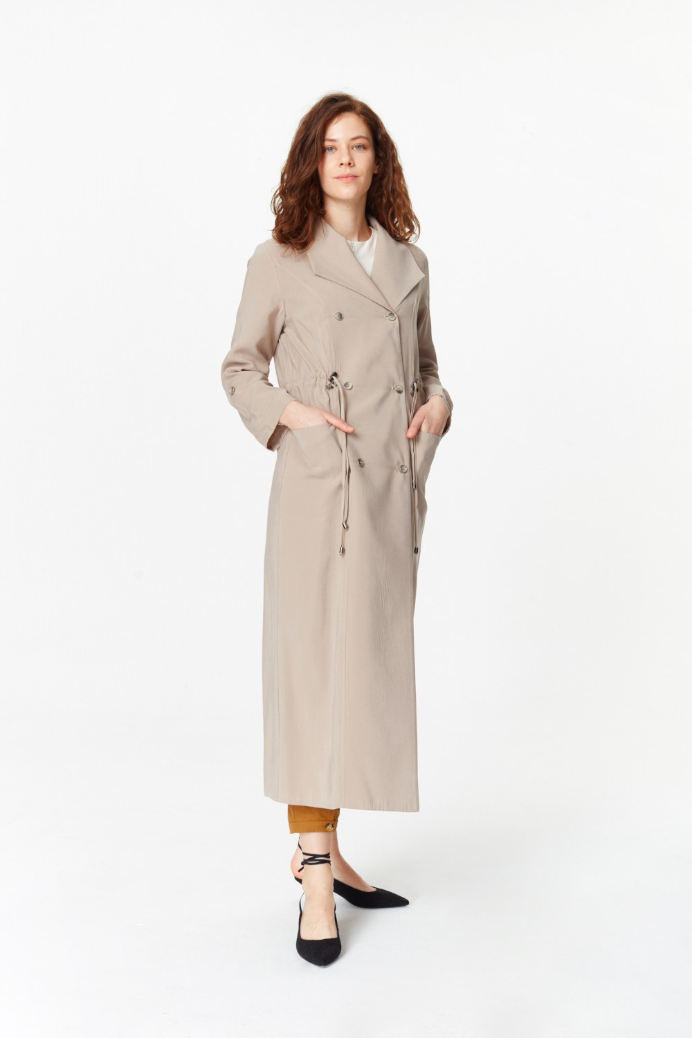 MIZALLE Luxury Trenchcoat (Beige) (1)