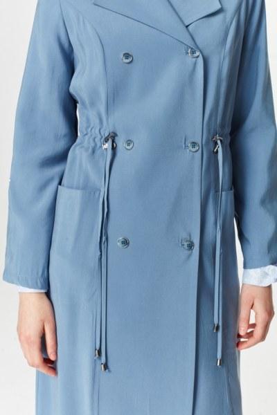 Luxury Trenchcoat (Indigo) - Thumbnail