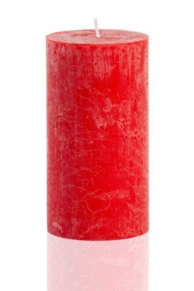 MIZALLE HOME شكل اسطوانة ، أحمر ريفي (13X6,8)