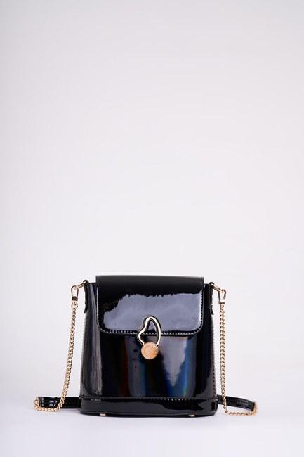 MIZALLE - Cylindrical Shoulder Bag (Black) (1)