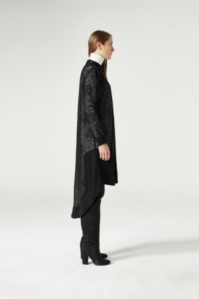 MIZALLE - Dantel Kuşaklı Tunik Elbise (Siyah) (1)