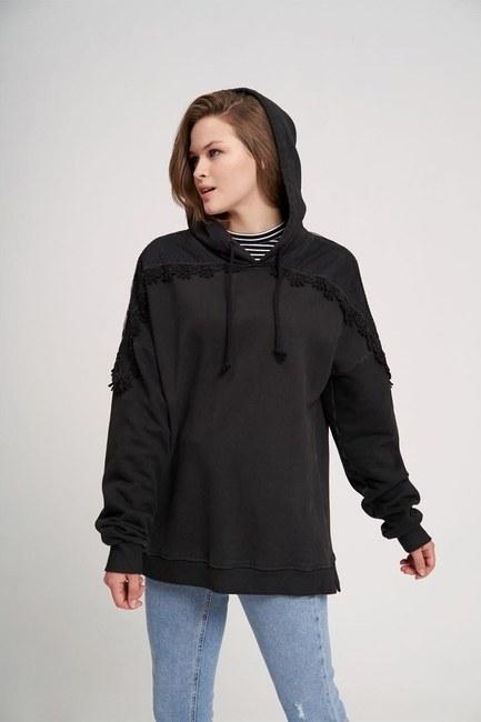Special Wash Sweatshirt (Black) - Thumbnail