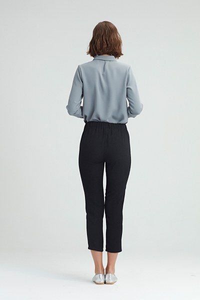 Skinny Trousers (Black) - Thumbnail